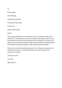 Hotel Reservation Letter Writing Drbqpixtftsteyo Sle Of Reservation Letters