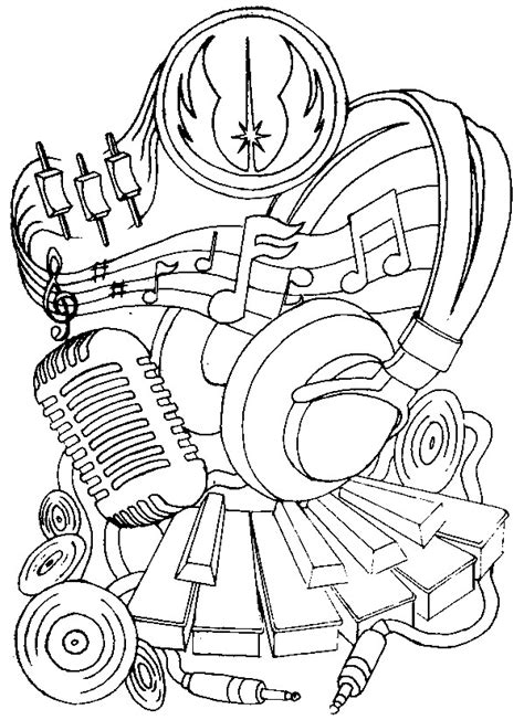 adult coloring music coloring pages
