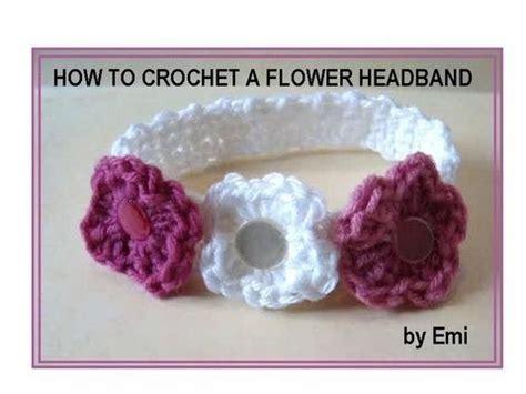 youtube tutorial how to crochet how to crochet a flower headband any size youtube