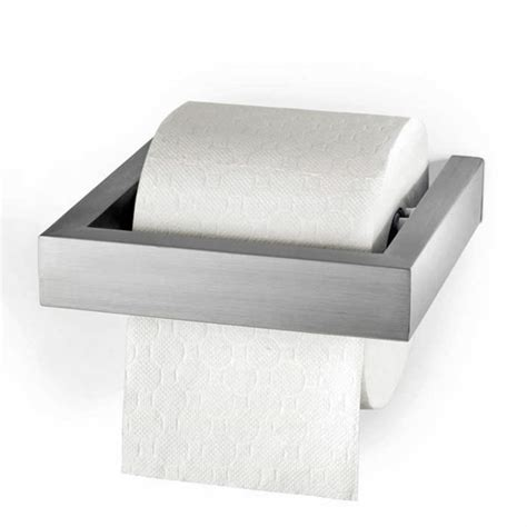 Modern Bathroom Suites Uk - zack linea wall mounted toilet roll holder stainless steel 40386 at victorian plumbing uk