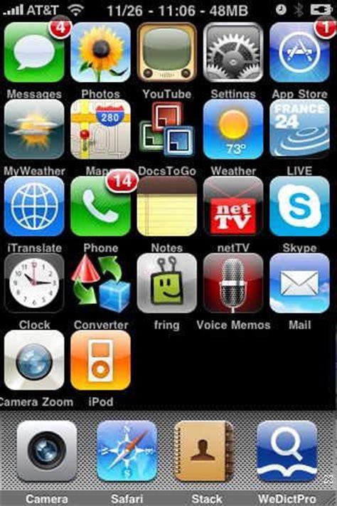Arranging iPhone icons   Organize iPhone icons