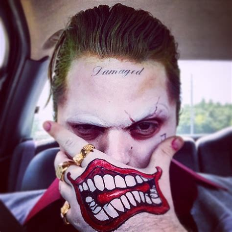 jared leto joker tattoo hand joker jaredleto suicidesquad harleyquinn on instagram