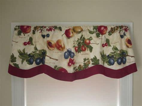 kitchen curtains fruit design 1000 ideas about kitchen window valances on pinterest