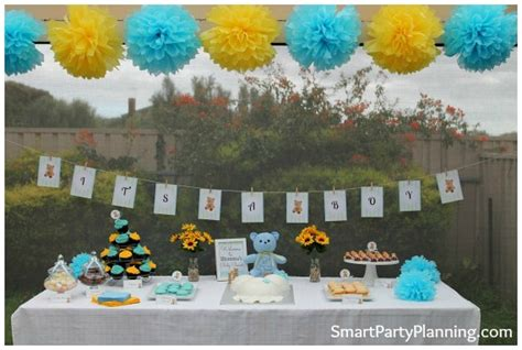 Blue And Yellow Baby Shower by Blue And Yellow Teddy Baby Shower