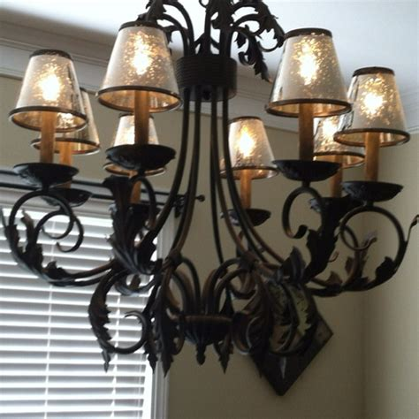 Glass Chandelier Shades Mercury Glass Chandelier Shades Home