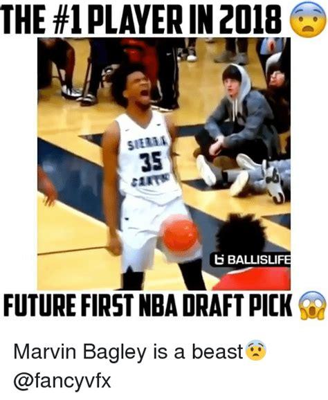 Nba Draft Memes - the 1 playerin 2018 35 b ballisli future first nba draft