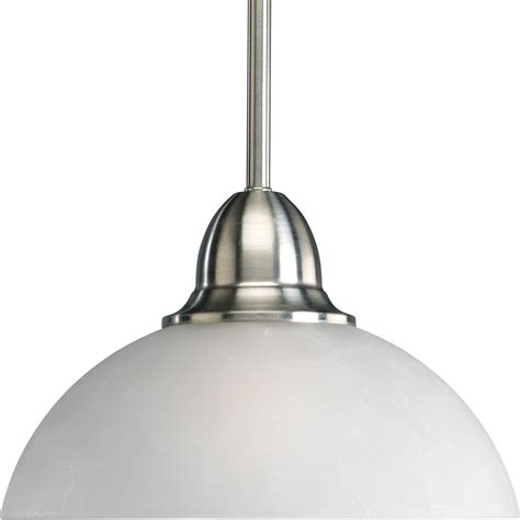 Brushed Nickel Mini Pendant Lights Progress Lighting Pavilion Collection 1 Light Brushed Nickel Mini Pendant P5125 09 The Home Depot