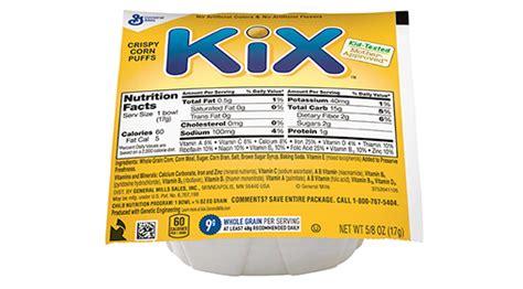whole grain kix kix bowlpak cereal general mills convenience and