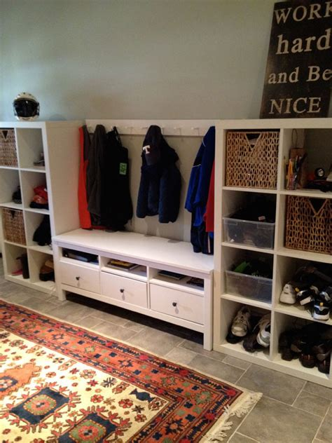 ikea mud room instant mudroom and mini bar diy the ikea way tips