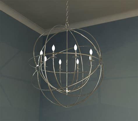 Foucault Single Orb Chandelier Canalside Interiors Building Rfa Chandelier Light Pendant