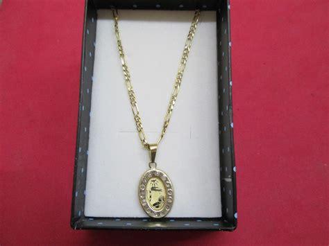 precio de cadena de oro de 10k cadena y medalla de bautizo en oro s 243 lido de 10 k