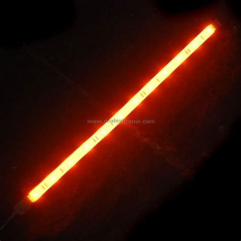 Orange Led Light Strips Smd 12 Led Extendable Light 30cm Orange 12v Free Shipping Dealextreme