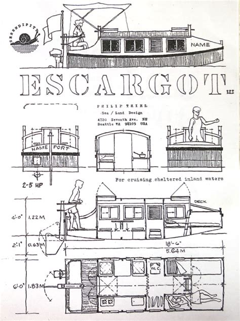escargot boat plans sea land design