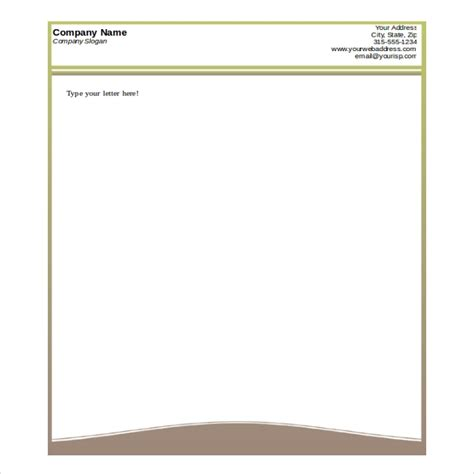 Letterhead Templates Free Download Word Letters Font Microsoft Word Letterhead Templates