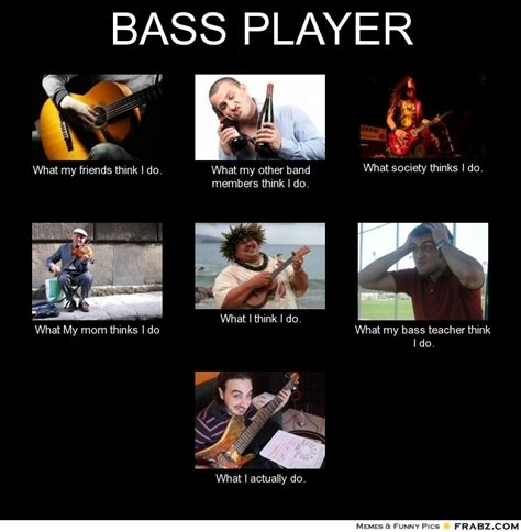 Bass Meme - what bass players actually do ugly bass face