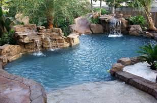 hippo pools fiberglass pools spas waterfall1