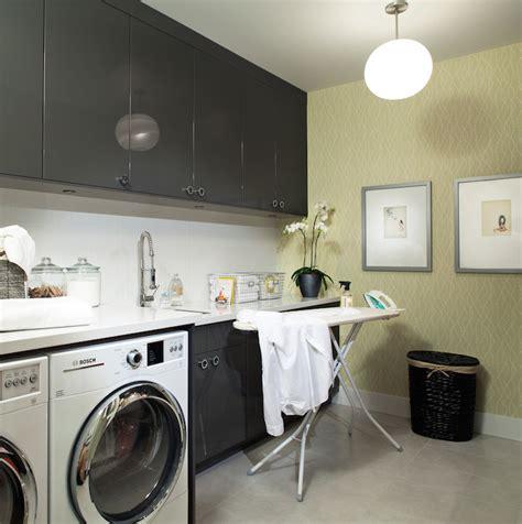 Gray And Yellow Room Contemporary Laundry Room Kelly Grey Laundry