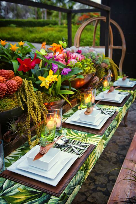 caribbean christmas decoration ideas how to tropical table decor bespoke wedding