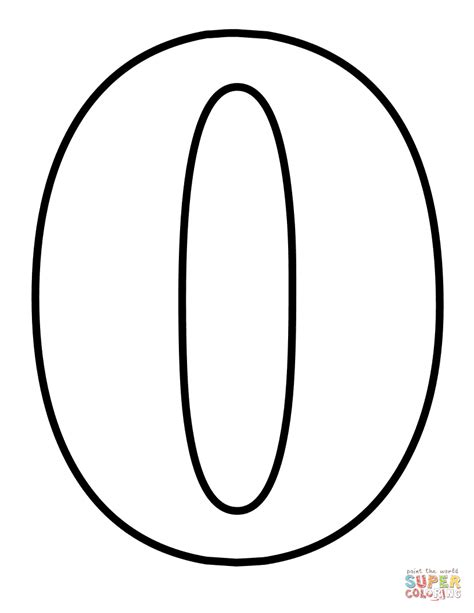 Number 0 Coloring Page by Number 0 Coloring Page Free Printable Coloring Pages