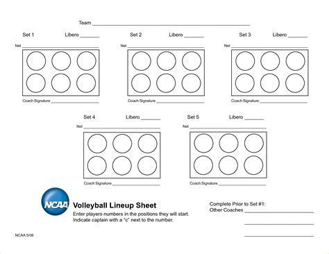 free printable volleyball lineup cards 5 volleyball lineup sheets printable academic resume