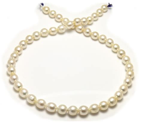 8mm white south sea pearl necklace