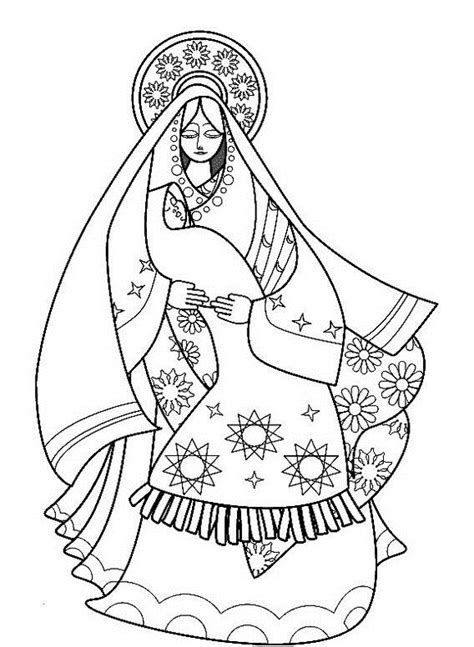 coloring page of virgin mary free coloring pages of virgin mary
