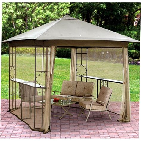 Steel Frame Gazebo Steel Frame Gazebo Outdoor Patio Canopy 2 Shelf Tent Shade
