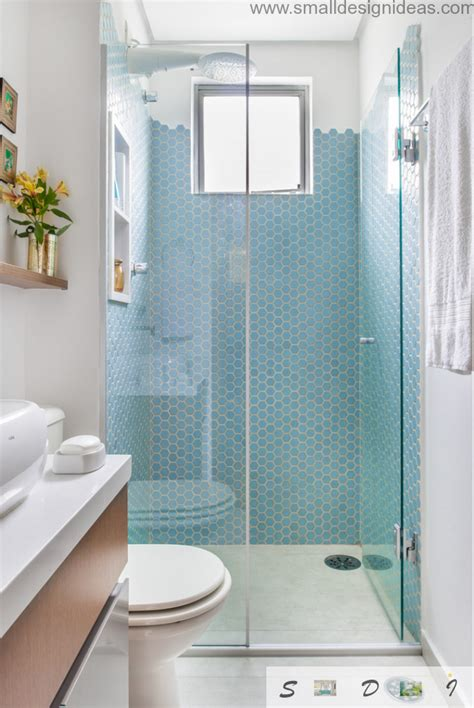 Neat Bathroom Ideas by Small Bathroom Design Ideas Of Neat Blue Mosaic