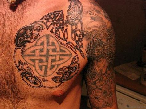 druid tattoos 34 cool celtic tattoos on chest