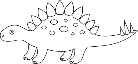 stegosaurus coloring page free clip art
