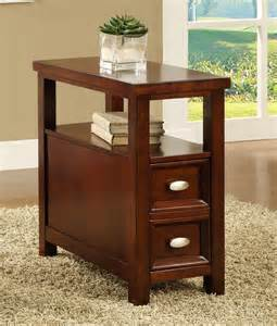 craftsman style chairside table cherry huntington