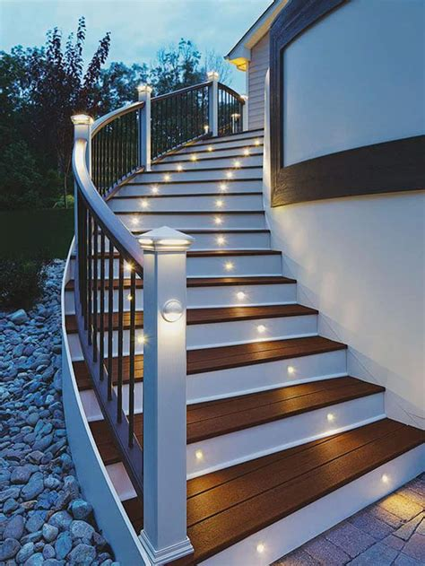 exterior stairs 15 attractive step lighting ideas for outdoor spaces