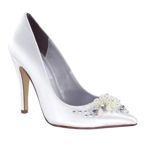 Lennon White dyeables lennon white satin 3 1 2 quot heel dyeable shoe store