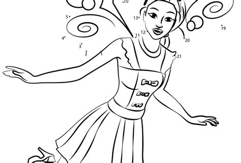 barbie printable dot to dot barbie doll wearing party dress coloring pages to print