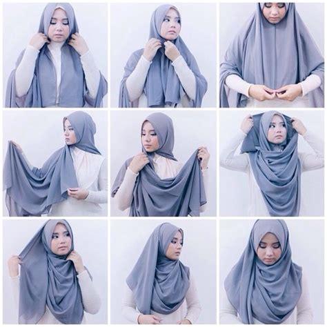kreasi tutorial hijab segi empat simple