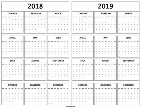 printable calendar april 2018 to march 2019 print 2018 and 2019 calendar template with year holidays