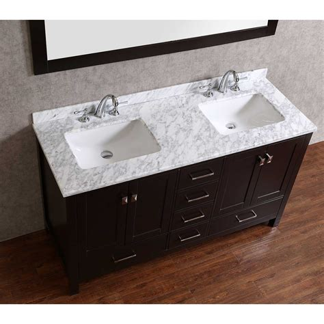 solid wood bathroom vanities buy vnicent 60 quot solid wood double bathroom vanity in