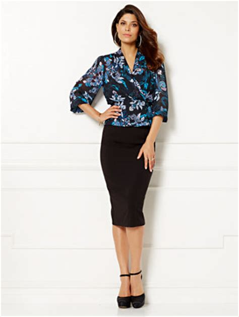 006 Yoke Blouse ny c mendes collection blouse print