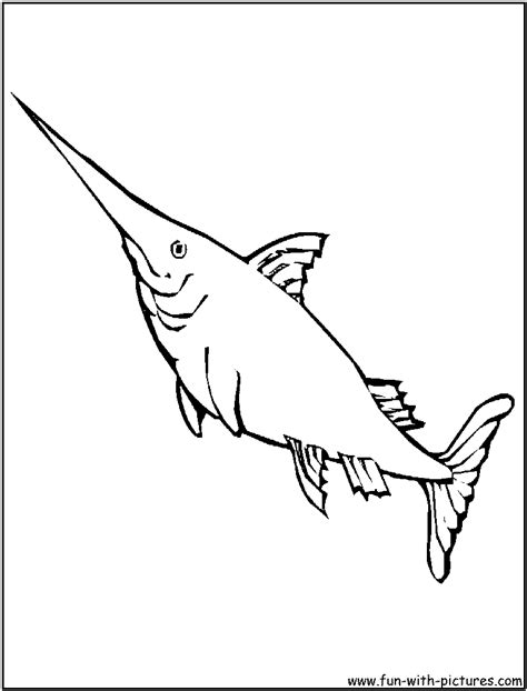 swordfish coloring page