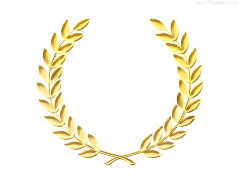 Gold laurel wreath medal template psd psdgraphics plans pinterest wreaths vector