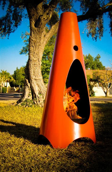 Cool Chiminea by Light One Up On The Patio Custom Designer Outdoor Fireplace