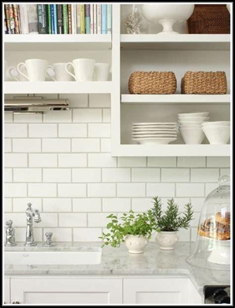 White Subway Tile Backsplash Grey Grout Tiles Home