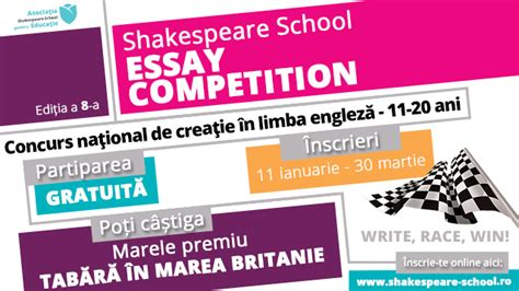 Paul Ii Institute Essay Contest by Semifinalistii 2016 Shakespeare School Essay Competition