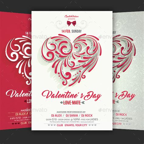 valentines day flyer template free valentines day flyer template for landisher