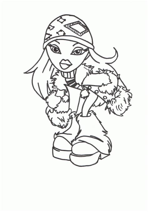 Free Printable Bratz Coloring Pages For Kids Bratz Color Pages