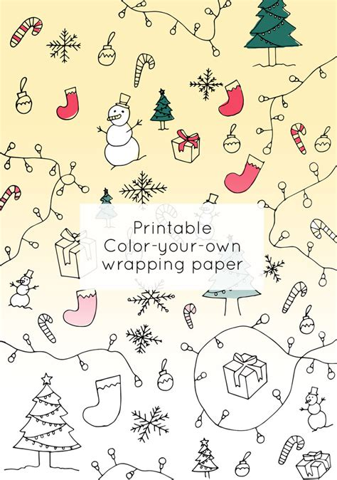 coloring book wrapping paper color your own wrapping paper printables intro