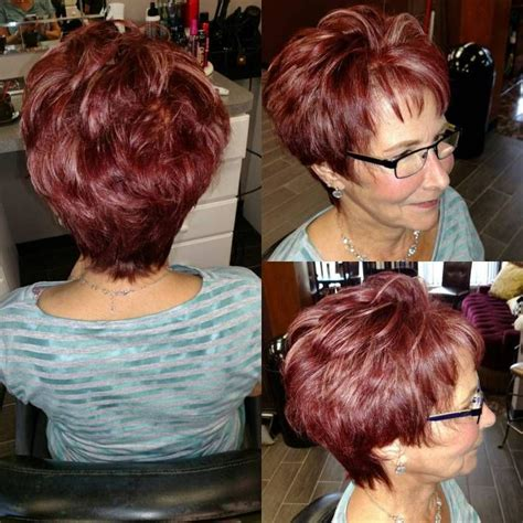 short cuts with burgundy high and low lights 8 best blending grey lowlights images on pinterest low