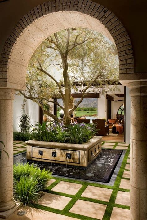 courtyard house plans pinterest home decor 18 glamorous courtyard design that are center of