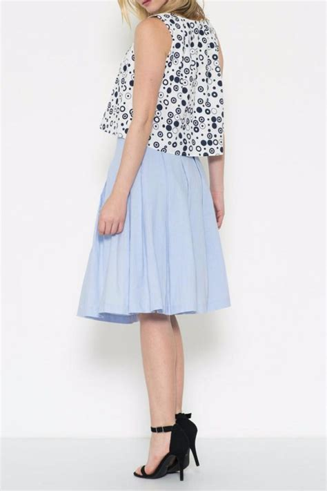 esley collection linen midi skirt from ta by mad hatter