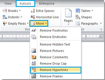 remove layout word how to remove all hyperlinks in word